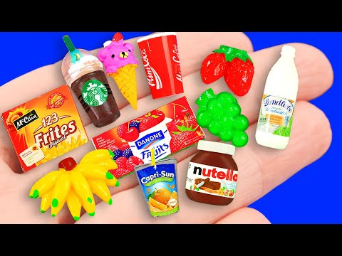 Видео: 35 DIY MINIATURE BARBIE FOODS & DRINKS: BARBIE HACKS