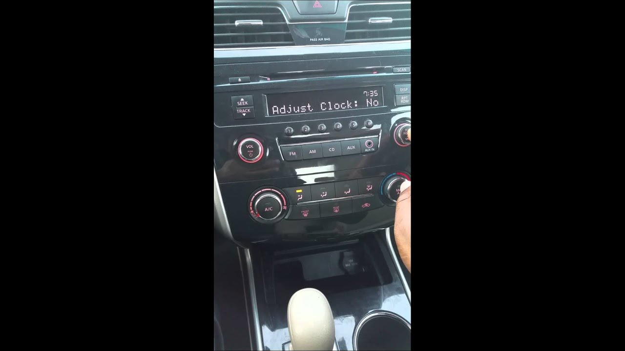 2014 Nissan Altima - Clock / Time Change