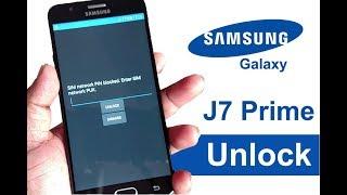 Unlock Samsung J7 Prime SIM Network Unlock PIN Blocked Enter PUK Samsung J7 Prime Unlock Code