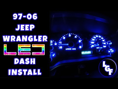Jeep Wrangler LED Dash Install [HD] - 1080p