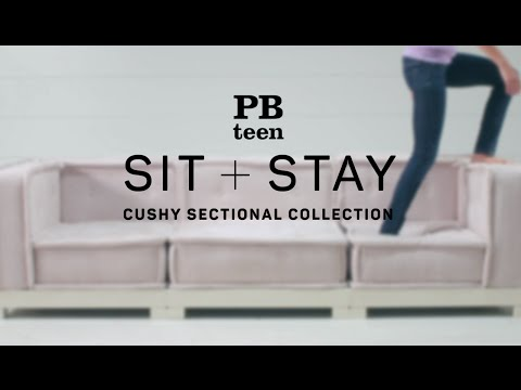Sit + Stay - Cement Cushy Lounge Sectional Set   PBteen ...