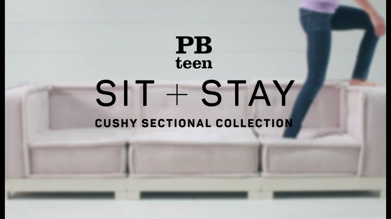 Sit Stay Cement Cushy Lounge Sectional Set Pbteen