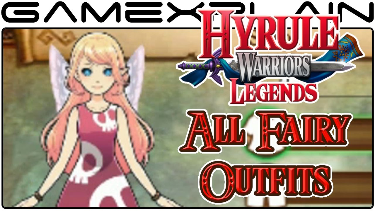 Hyrule Warriors Legends All Fairy Outfits 3ds Youtube