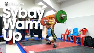Rustem Sybay Warm Up Area 2015 Asian Weightlifting Championships