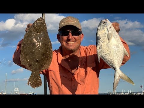 Pompano, Flounder and Monster Redfish {Catch Clean Cook} DELICIOUS!