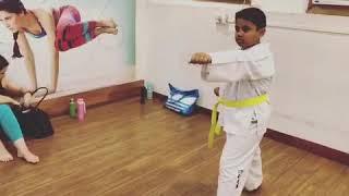 Martial arts #Taekwondo for kids at #Flashfitnesskolkata Call 9830020888 to join with @mrityunjoy_