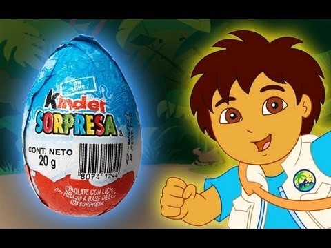 Go Diego Go! - Dora Explorer - Kinder Surprise Chocolate Egg Unboxing