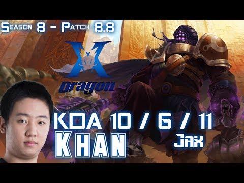 KZ Khan JAX vs CAMILLE Top - Patch 8.8 KR Ranked