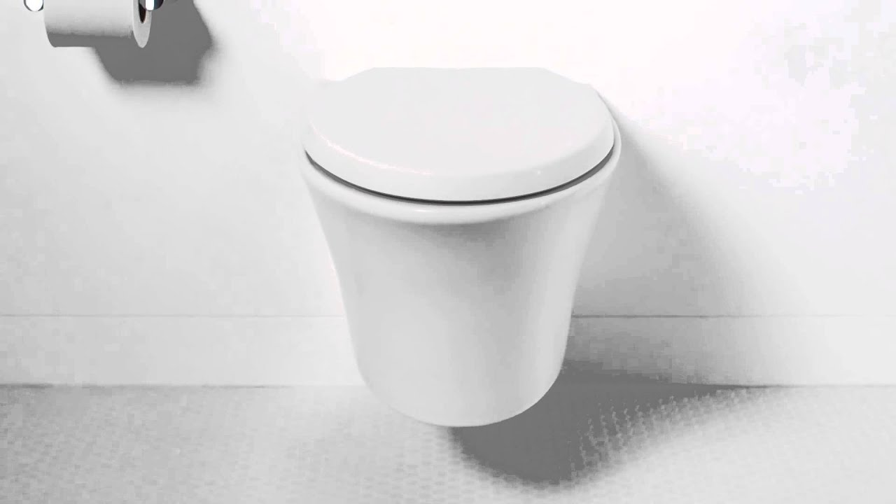 The Kohler Veil Wall Hung Toilet Youtube