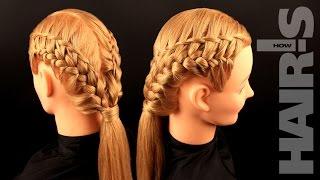Техника плетения необычной декоративной косички - видеоурок (мастер-класс)