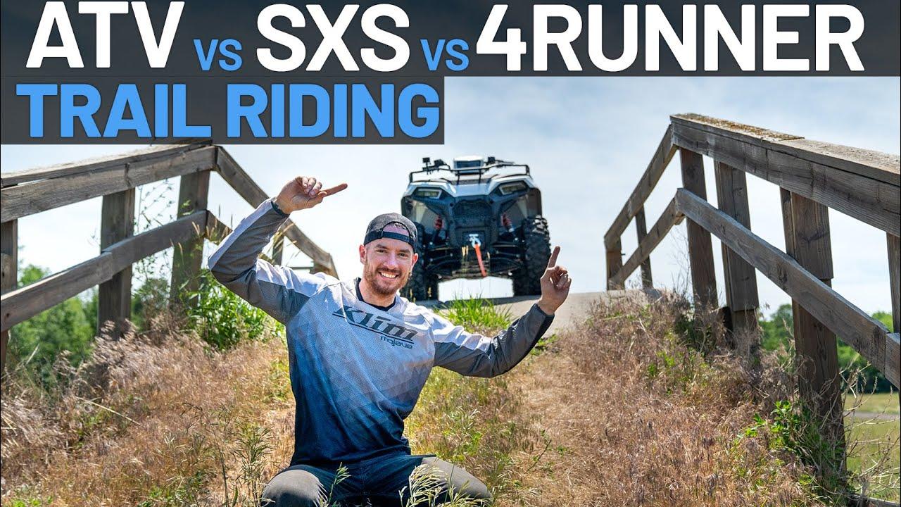 ATV VS SXS VS 4RUNNER, TRAIL RIDING CHALLENGE - TRAIL TALK EP. 16 | POLARIS OFF-ROAD VEHICLES