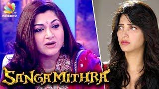 Kushboo slams Shruti Haasan for back biting Sangamithra & Sundar C   Hot Tamil Cinema News