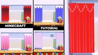 【マインクラフト】旗を使ったカーテンの作り方!6選(内装建築)