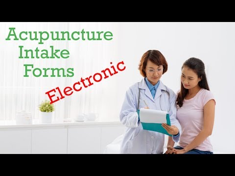 Acupuncture Intake Forms [ELECTRONIC]