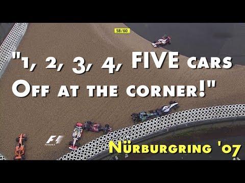 [50fps] Rain Madness @ 2007 European GP - w/ Murray Walker commentary