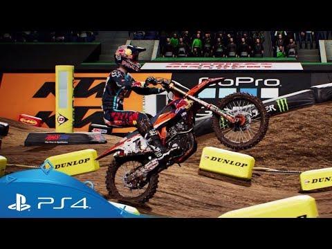 Monster Energy Supercross - The Official Videogame | Reveal Trailer | PS4