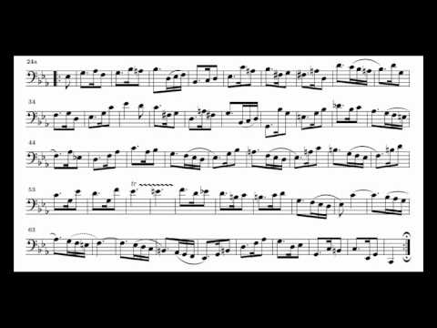 J. S. Bach Cello Suite n. 5 BWV 1011 - 6. Gigue - Piano Transcription [tbpt47]