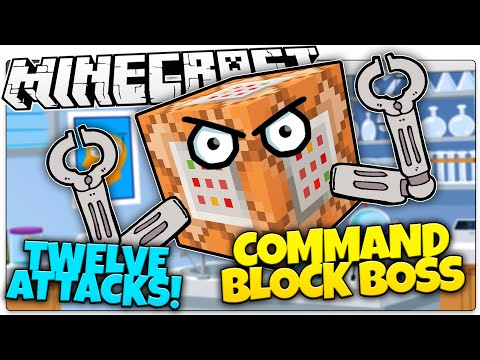 Minecraft | COMMAND BLOCK BOSS BATTLE! | Kill Evil Command Blocks! (Minecraft Vanilla Boss Mod)