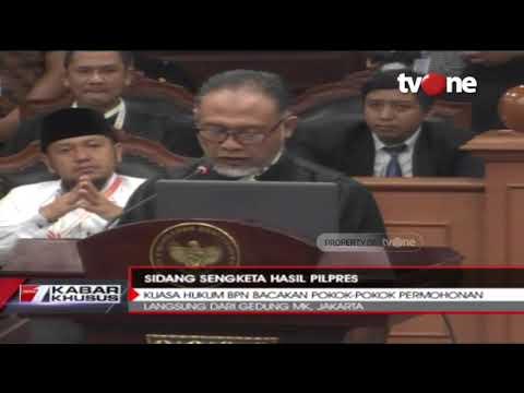 Tim Kuasa Hukum Prabowo Bacakan Pokok-pokok Permohonan Terkait Sengketa Pemilu 2019