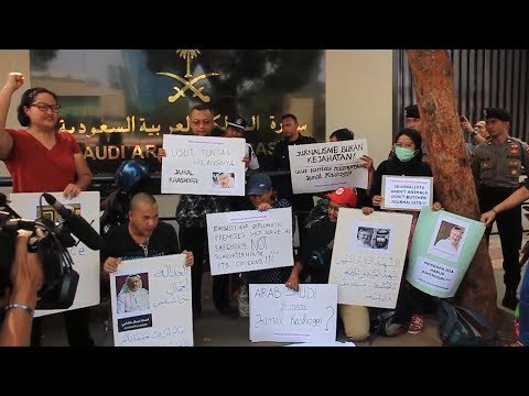 Jamal Khashoggi Hilang, Sejumlah Jurnalis Lepas Indonesia Gelar Aksi di Depan Dubes Arab Saudi