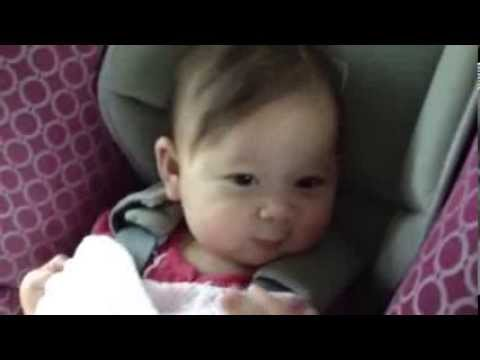6 Month Old Baby Dancing In Car Seat Youtube