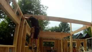 How To Install A Floor Joist Alone - 30 - My Garage Build Hd Time Lapse