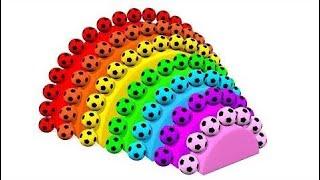 Lær Farver Med Fodbold Regnbue Spiral Og Æg Ballon Bolde Til Børn Og Småbørn