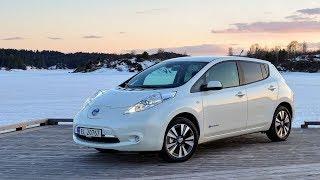 Nissan leaf.  Электрокар.  Авто обзор.  Тест Драйв.