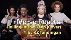 "rIVerse Reacts: Rolling In The Deep - Live Performance Cover by KZ Tandingan on ""Singer"""