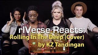 """rIVerse Reacts: Rolling In The Deep - Live Performance Cover by KZ Tandingan on """"Singer"""""""