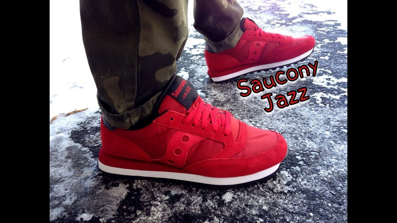 c8aea656d635 Saucony Jazz Red Black Review   On Feet - YouTube