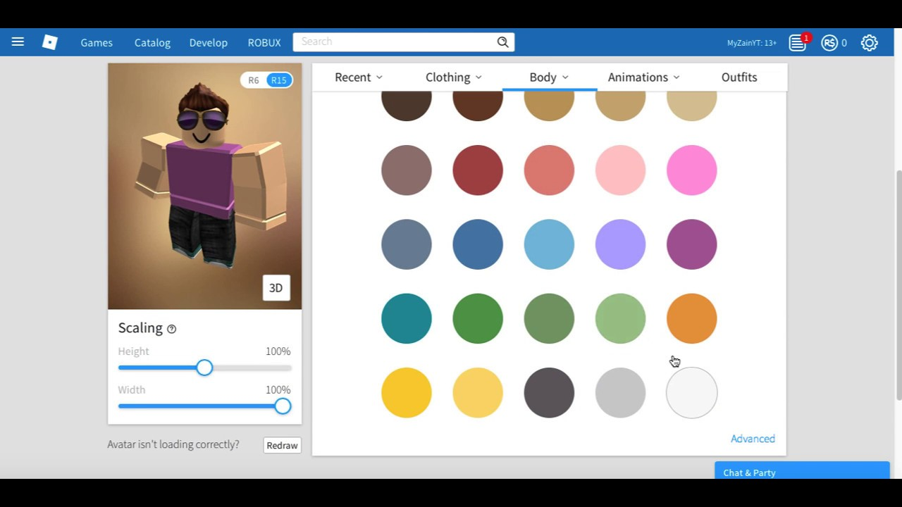 How To Change Your Roblox Skin Color On Mobile By Ecowindd