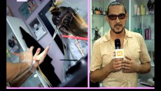 видео «Мраморное» окрашивание волос