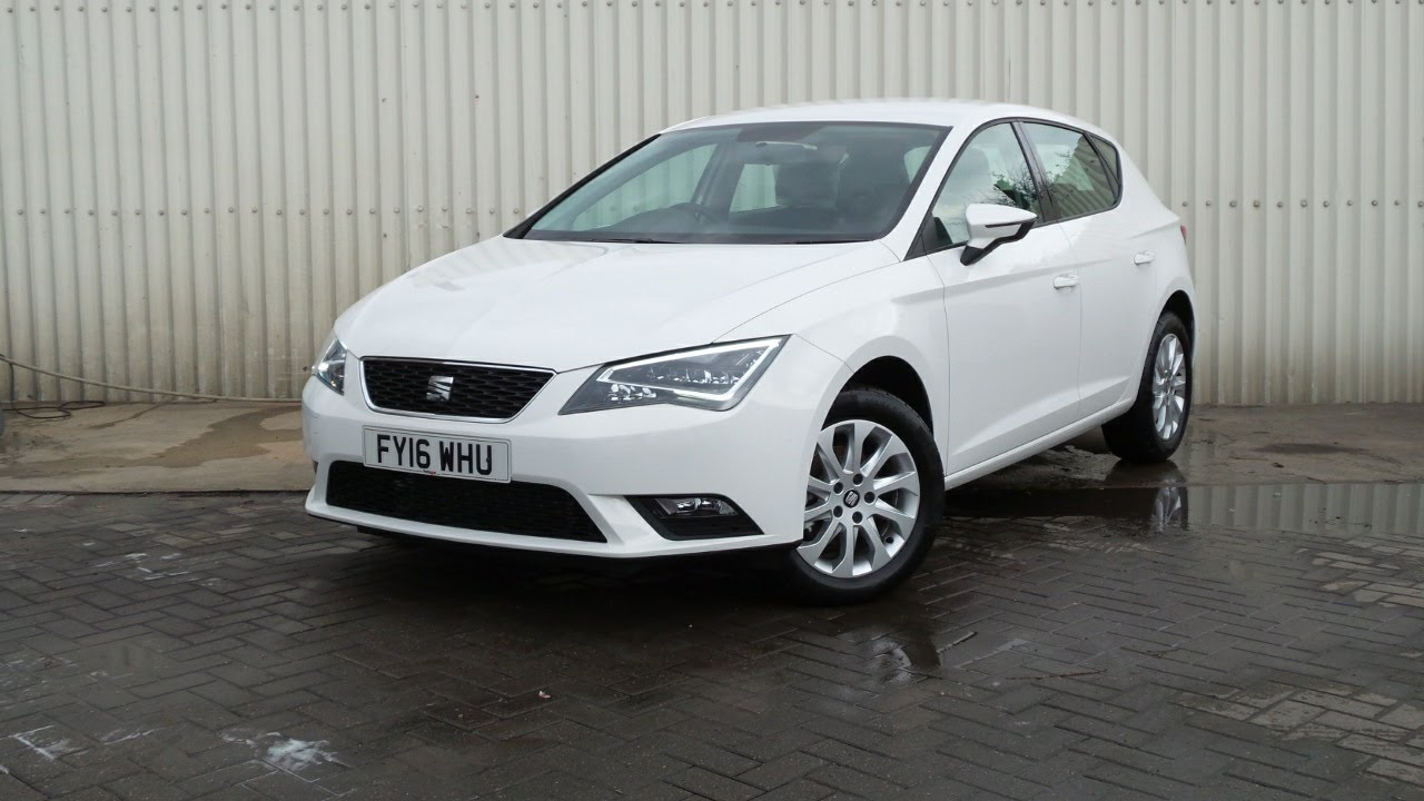 מעולה  2016 16 Seat Leon 1.6 TDi SE 5dr - Delivery Miles in white - YouTube UY-88