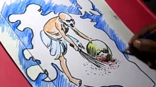 How to Draw Clean India Drawing Step By Step For KIDS