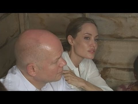 Angelina Jolie and William Hague visit Africa to raise awareness of sexual violence in warzones