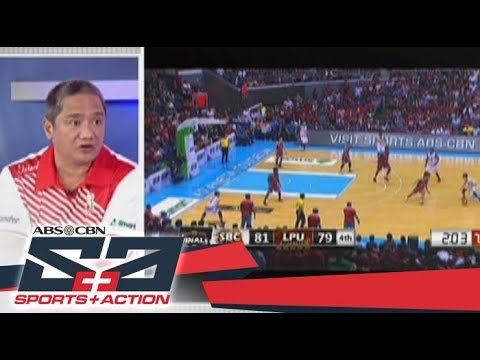 The Score: SBC Red Lions head coach Boyet Fernandez shares his thoughts on winning the championship