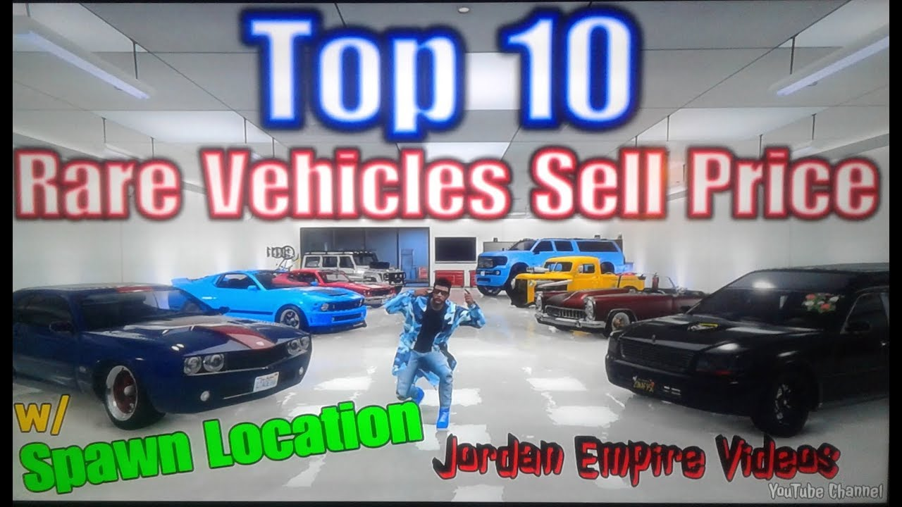gta online rare cars to sell
