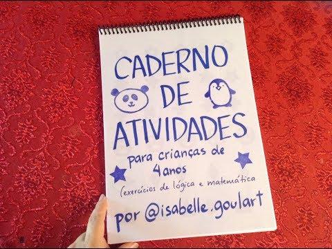 Caderno de atividades para 4 anos