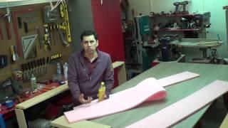 Fabricando una base para cama (5a parte) (forrando el marco exterior) 14E/FME [video70]