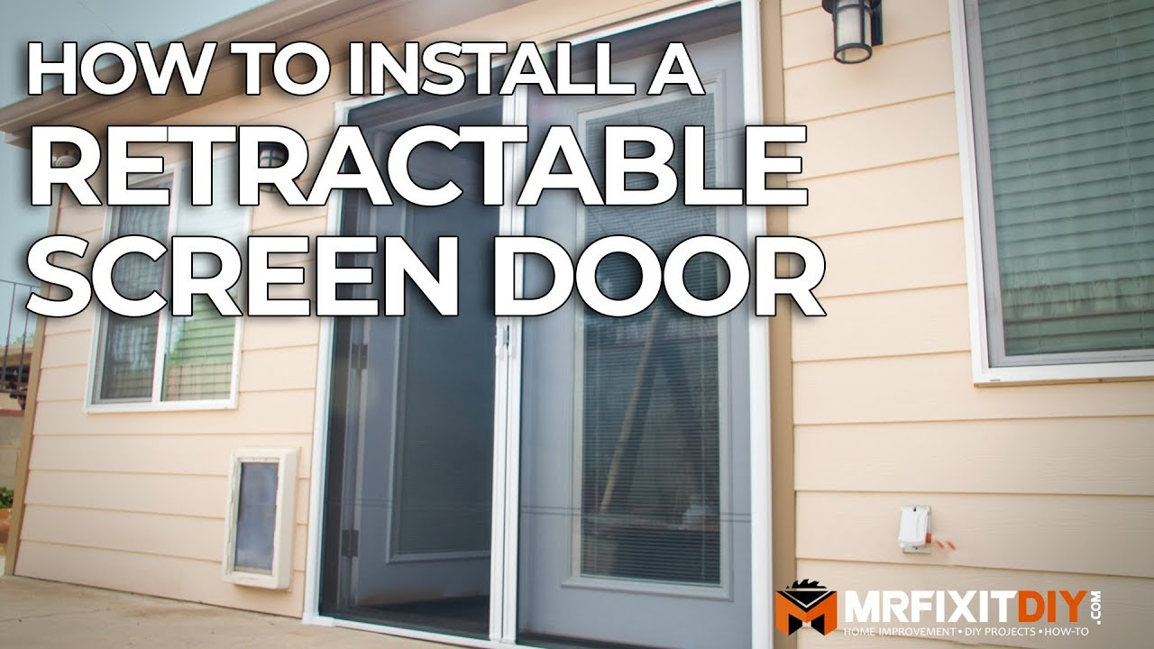How To Install A Retractable Screen Door Youtube