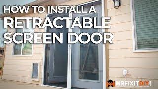 How to Install a Retra¢table Screen Door