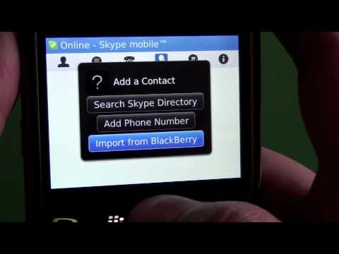 Skype Mobile for BlackBerry A to Z
