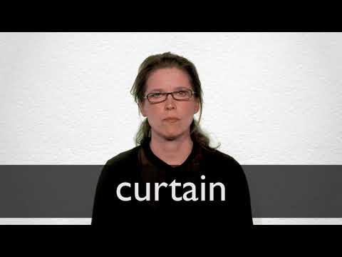 How to pronounce CURTAIN in British English
