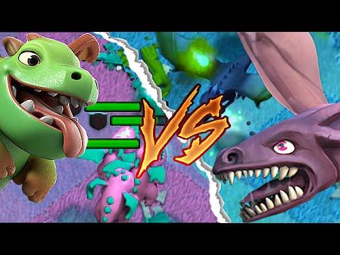 Clash Of Clans - BABY DRAGON Vs. DRAGON BATTLE!(Dragon wars In clash of clans!)