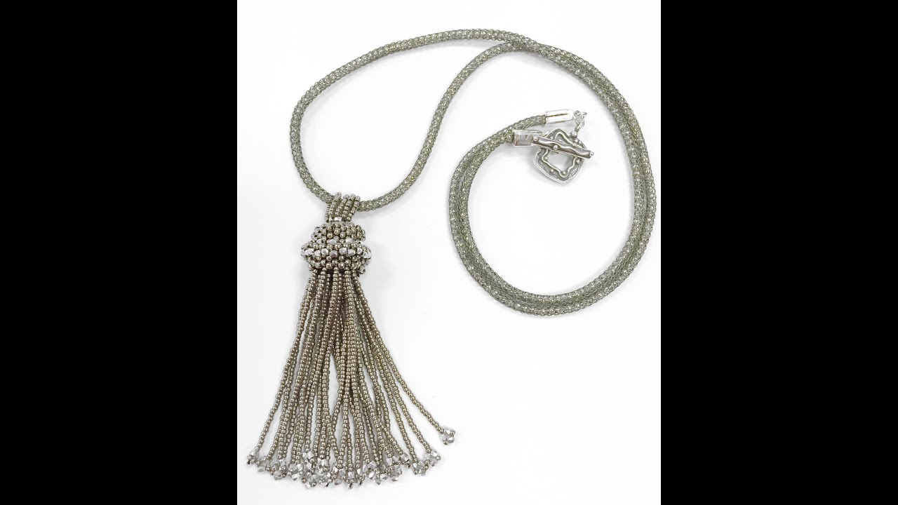 crystaltasselnecklace pretty products tassel simple crystal necklace