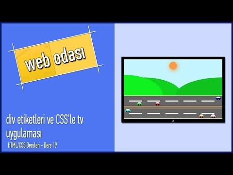 HTML/CSS Dersleri - Ders 19 - Div Etiketleri Ve CSS'le Tv Uygulaması