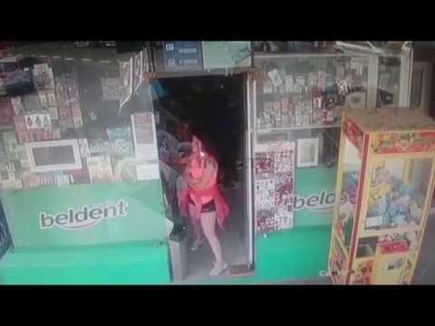 Un punga robó en un kiosco, quedó grabado y lo escracharon en las redes sociales