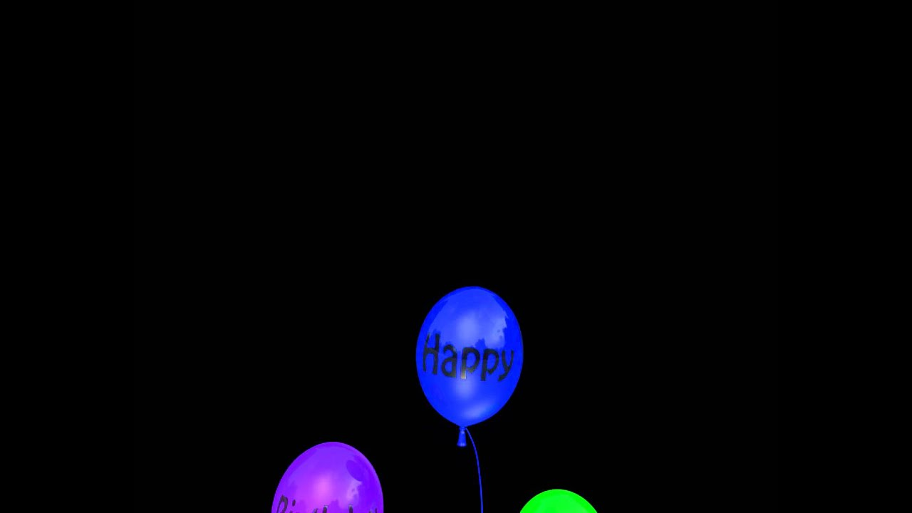C4D Animated Happy Birthday Balloonsmov