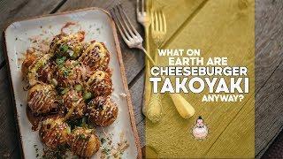 Cheeseburger Takoyaki   Japanese Octopus Balls X Cheeseburgers   Recipe